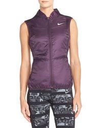 Nike | Purple Polyfill Water-Resistant Vest | Lyst