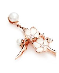 Shaun Leane | Large Branch Diamond And Cultured Pearl Drop Earrings | Lyst