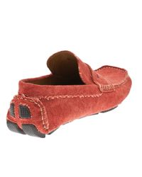 Billy Reid - Red Driving Shoe for Men - Lyst