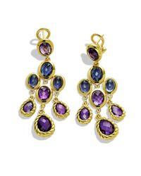 David Yurman | Metallic Chandelier Earrings with Amethyst and Diamonds in Gold | Lyst
