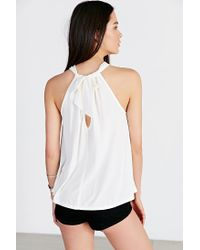 Silence + Noise - White Silence + Noise Tie It Up Tank Top - Lyst