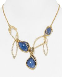 Alexis Bittar | Blue Elements Labradorite Linked Bib Necklace, 18"