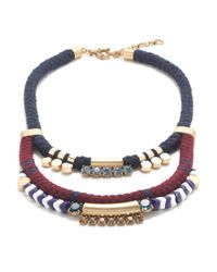J.Crew | Blue Rope Cord Necklace | Lyst