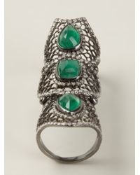 Loree Rodkin | Green Spider Web Bondage Ring | Lyst