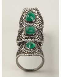 Loree Rodkin - Green Spider Web Bondage Ring - Lyst