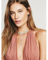Free People | Blue Womens Dew Drop Necklace | Lyst