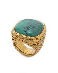 Aurelie Bidermann - Metallic Miki Ring With Stone - Lyst