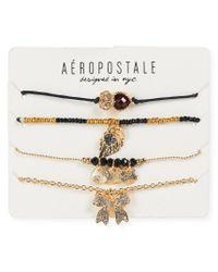 Aéropostale | Multicolor Earthy-chic Charm Bracelet 4-pack | Lyst