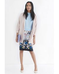 Oasis - Multicolor Oriental Blossom Pencil Skirt - Lyst