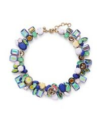 J.Crew | Blue Wild Crystal Necklace | Lyst