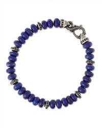 Stephen Webster - Purple Thorn Pave Lapisbead Bracelet for Men - Lyst