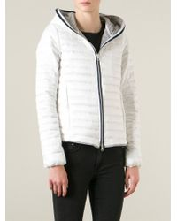 Duvetica - White 'eeira' Hooded Jacket - Lyst