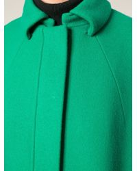 Gianluca Capannolo - Green Oversized Cocoon Coat - Lyst