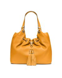 Michael Kors | Yellow Camden Leather Tote | Lyst