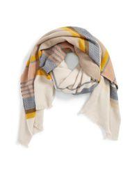 Hinge Multicolor 'jacquard Stripe Scarf
