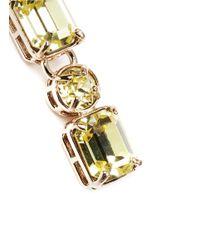 Valentino - Yellow Rhinestone Earrings - Lyst
