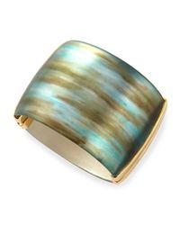 Alexis Bittar - Blue Liquid Metal Hinge Bracelet - Lyst
