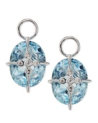Jude Frances | Lacey Sky Blue Topaz Earring Charms | Lyst