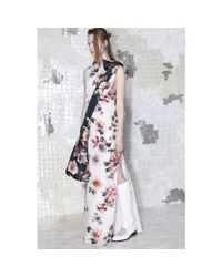 Acne Studios | White Palm Gazare Floralprint Silk Gown | Lyst
