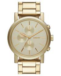 DKNY - Metallic 'soho' Chronograph Bracelet Watch for Men - Lyst