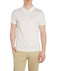 Ben Sherman | White Geo Print Regular Fit Polo Shirt for Men | Lyst