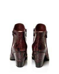 Moda In Pelle | Red Leonor Medium Smart Short Boots | Lyst