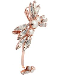 Ryan Storer - Metallic Rose Goldplated Swarovski Crystal and Pearl Ear Cuff - Lyst