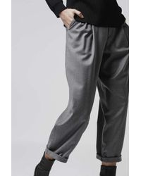 TOPSHOP | Gray Flannel Mensy-fit Trousers By Boutique | Lyst