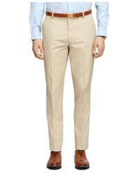 Brooks Brothers - Natural Clark Fit Supima® Cotton Poplin Pants for Men - Lyst