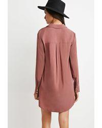 Forever 21 | Purple Shift Shirt Dress | Lyst