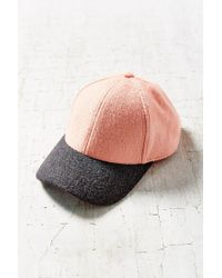Urban Outfitters - Pink Wooly Colorblock Baseball Hat - Lyst