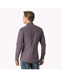 Tommy Hilfiger - Purple Cotton Poplin Shirt for Men - Lyst