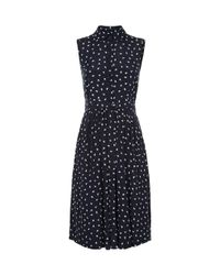 Hobbs - Blue Suzie Spot Swing Dress - Lyst