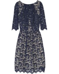 Erdem - Blue Margot Ruched Lace Dress - Lyst