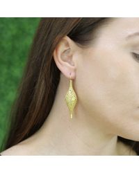 Yossi Harari | Metallic Lace Florentine Diamond Earrings | Lyst