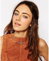ASOS - Blue Summer Bead Choker Necklace - Lyst