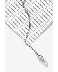 Nasty Gal - Metallic Isliana Howlite Lariat Necklace - Lyst