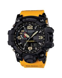 G-Shock - Yellow 'mudmaster Atomic' Resin Watch for Men - Lyst