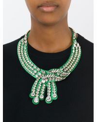 Shourouk | Green 'legend' Necklace | Lyst