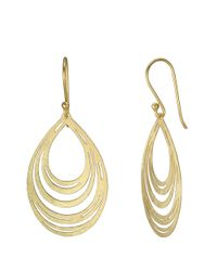 Lord & Taylor | Metallic 18Kt Gold Mesh Teardrop Earrings | Lyst