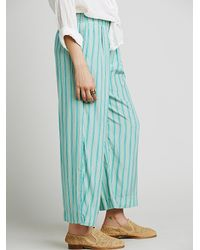 Free People - Blue Boyfriend Pant - Lyst