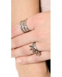 DANNIJO - Metallic Gray Ring - Crystal/Silver - Lyst