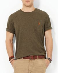Ralph Lauren - Green Polo Jersey Pocket Crewneck Classic Fit for Men - Lyst