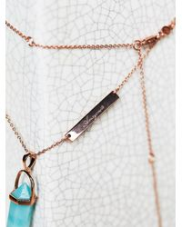 Free People - Blue Samantha Wills Womens Mineral Pendant - Lyst