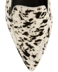 3.1 Phillip Lim - White Page Printed Calf Hair Loafers - Lyst
