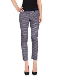 Liu Jo - Blue Casual Trouser - Lyst