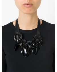 P.A.R.O.S.H. Black 'pinne' Necklace