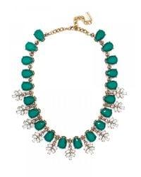 BaubleBar - Green Crystal Wreath Collar--teal - Lyst