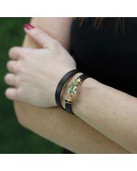 Federica Rettore - Pink Gemma Prasiolite Wrap Bracelet - Lyst