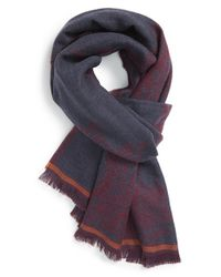 Etro - Purple Paisley Wool Scarf - Burgundy for Men - Lyst